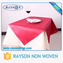 Umweltfreundliche Einweg 1m * 1m Polypropylen Spunbond nicht gewebte quadratische Tischdecke / Tischdecke