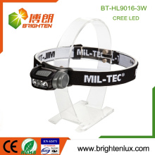 Factory Supply Günstige 3 * aaa Batterie ABS Multifunktions High Lumen Leistungsstarke 3watt LED Scheinwerfer Scheinwerfer mit weißen roten Licht