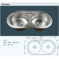 Double Bowl Wholesale Portable Stainless Steel Kitchen Camping Bathroom Hand Wash Sink