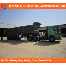 40-50ton Heavy Duty Mining Dump Semi-Trailer