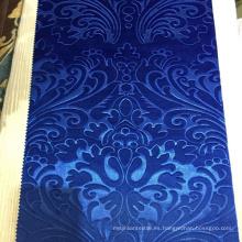 Nuevo diseño a 3D en relieve barato Spandex tejido tejido de terciopelo