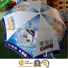 Guarda-chuva de sol ao ar livre 2,2 m com logotipos personalizados impressos (BU-0048W)