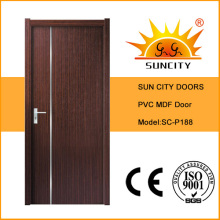 Самая дешевая Цена оптом экзотические ПВХ деревянные двери (СК-P188)