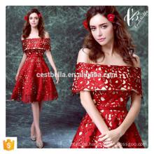 Elegante Art- und Weisekappen-Hülsen-rote formale Partei-Kleid-Kurzschluss-Kappen-Hülse Heimkehr-Kleid-Geburtstags-Party-Kleid