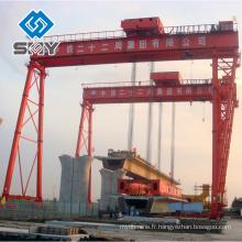 Grue résistante de portique de bâtiment de bateau de 600 tonnes, expert de fabrication de grue