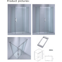 8mm/10mm Glass Thickness Rectangle Shower Cabin/Simple Glass Door (Kw04)