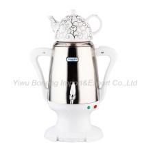 Sf-2397 Turkish Samovar, Electric Kettle, Iranian, Russian Samovar with Ceramic Teapot