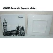 Placa cuadrada de la porcelana de Londres 8.5INCH para BS130601A
