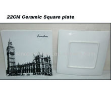 London 8.5INCH Porcelain Square Plate For BS130601A