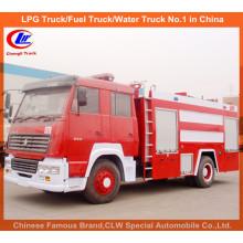 Heavy Duty Sinotruk HOWO 7000 litros de espuma de água caminhões de combate a incêndio