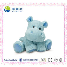 Small Blue Happy Hippo Toy for Baby
