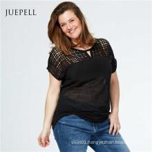 Plus Size Lace Women Casual T Shirt
