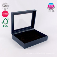 Custom gift carton packaging box with PVC window