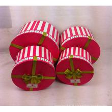 Impressão de caixas de papel redondas com fita