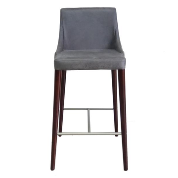 steel structure PU leather dining chairs