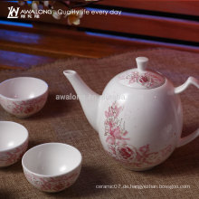 7pcs Blumenentwurfs-feines Porzellan-chinesisches Tee-Tabellen-Set, glückliches China-Tee-Set