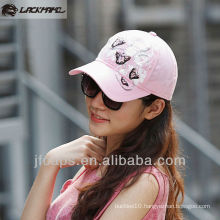 Bamboo cotton print sequins embroidery wash baseball caps