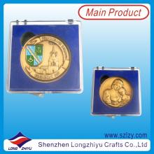 Antique Gold Plated Enamel 3D Souvenir Coin