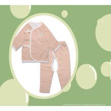 2 PCS algodão orgânico bebê corpo conjunto terno com fabricação de Design DOT na China