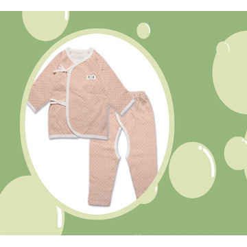 2PCS Organic Cotton Baby Body Suit Set with DOT Design Manufacture in China