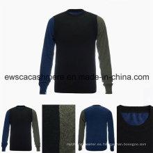 Suéter de cachemir puro de calidad superior con diseño de cuello redondo para hombre