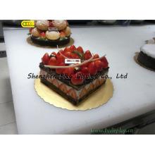 Placa de bolo ecológico mini grau alimentar