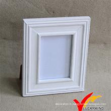 Cadre photo en bois blanc avec support