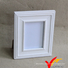 Wood Photo Frame White with Stand