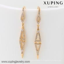 92035 Xuping Jewelry Boucles d'oreilles en plaqué or fantaisie design nouveau pour femme