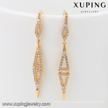 92035 Xuping Jewelry Simple fancy new design gold plated earrings for women