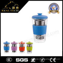 OEM ODM Custom Heat Resistant Borosilicate Glass Cup of Double Wall