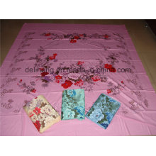 Цветочный дизайн T / C 50/50 Plain Dyed and Printed Jacquard Bed Sheet