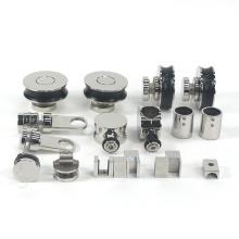Customized color stainless steel shower room kit sliding glass door hardware