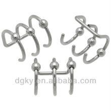 Aço triplo clip de cartilagem grânulo em Cheater Jewelrys, Fake Plugs