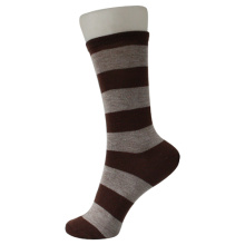 Grey Brown Trips Kid's Socks