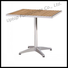 Outdoor Wooden Top Aluminum Bistro Patio Table (SP-AT325)