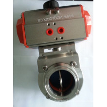 Sanitary Stainless Steel Electric Threaded Butterfly Valve