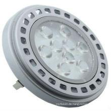 Modernes Design LED AR111 11W, 12 V AC DC silbriger Abdeckung