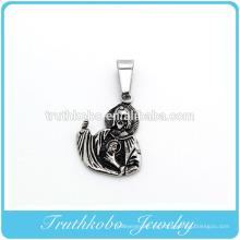Aniversario de moda collar urnas amuletos negro jesus cenizas para el hombre Colgante de joyería de oro vocuum