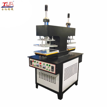 Automatic embossed label heat pressing machine for shirt