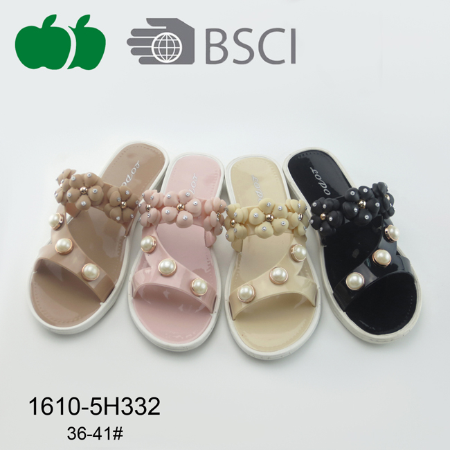 Fashion Design Summer Soft Women Pcu Slipper
