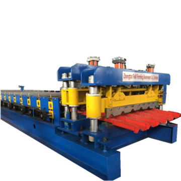 New+970+steel+roof+tile+forming+machine