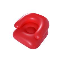 красное цветное надувное простое детское кресло софы