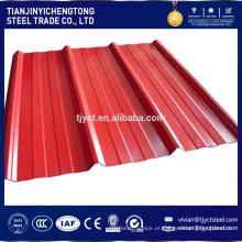 As melhores folhas de aço onduladas revestidas do telhado do zinco da cor do material de construção