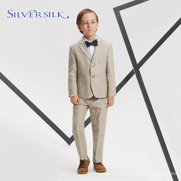 Breathable Linen Cotton Single Breasted Blazers for Boys