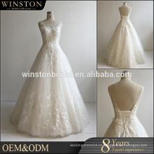 Новый продукт прибытия оптом красивые свадебные платья мода половина рукава