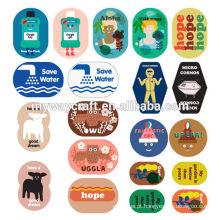 Papel de carta colorida etiqueta impressa etiqueta comum