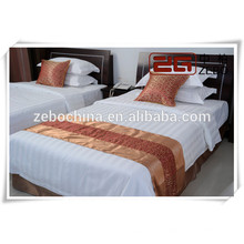 Pure Cotton Competitive Price Hotel Used White Complete Bedding Sets