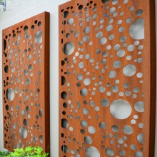 Rust Metal Screen Panels