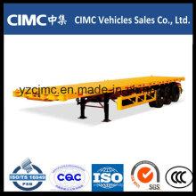 Remolque Cimc 40 Feet 3 Ejes Flatbed 40 Ton